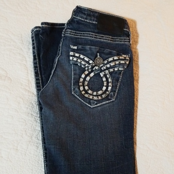Big Star Denim - Big Star Liv Slim Boot Leather Pockets Jeans 27R